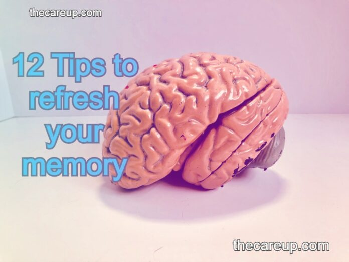 12 Tips to refresh your memory and remember