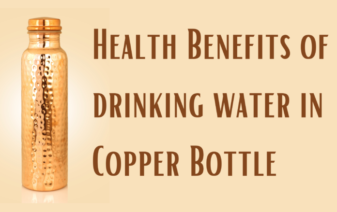Copper water- benefits of drinking water in a copper bottle